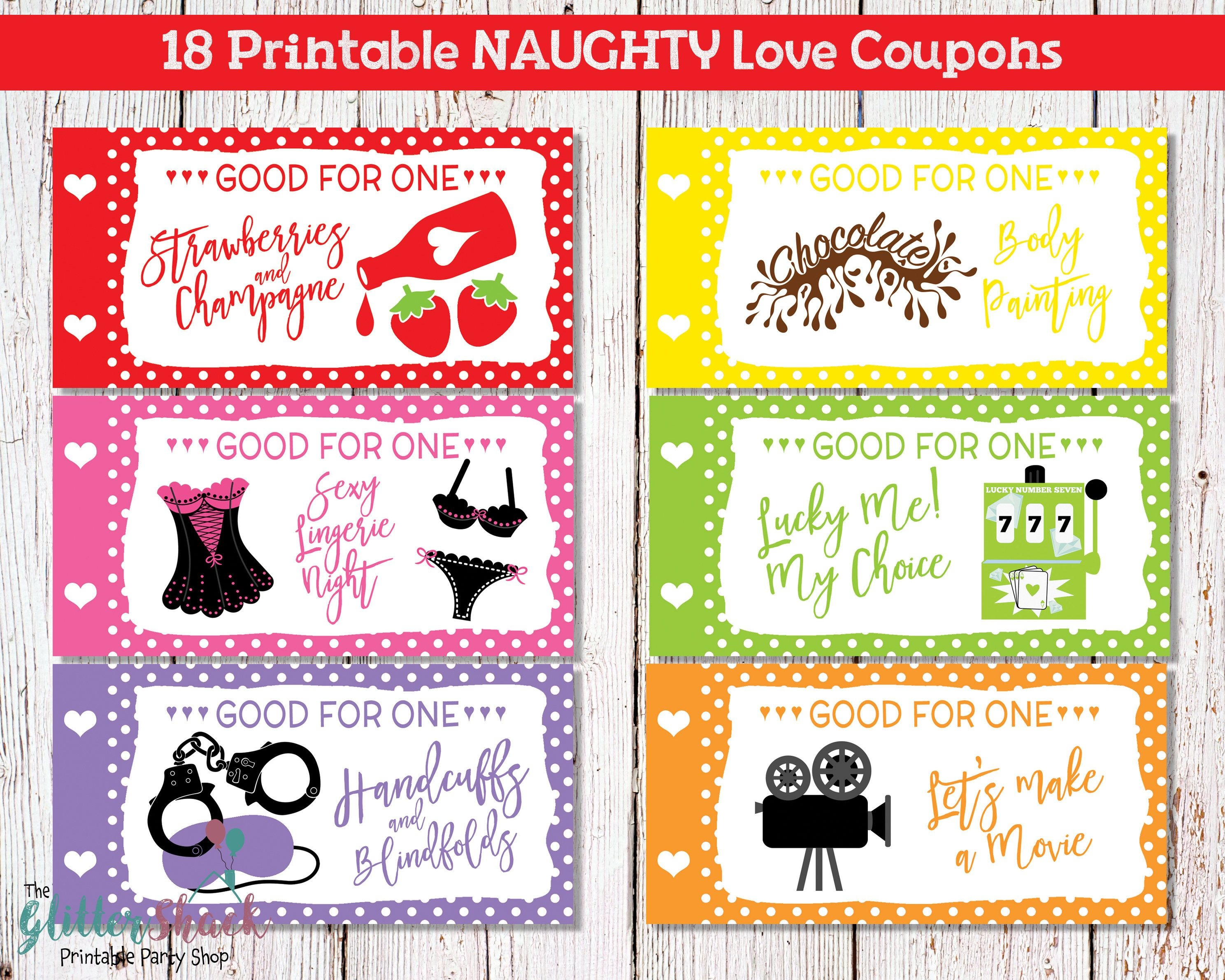 Printable Naughty Love Coupons For Men Husband Boyfriend, Sexy - Free Printable Love Certificates For Him