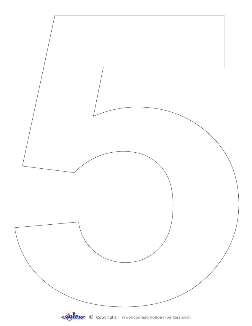 Printable Number 5 - Coolest Free Printables | Racing Party | Free - Free Printable Number Stencils