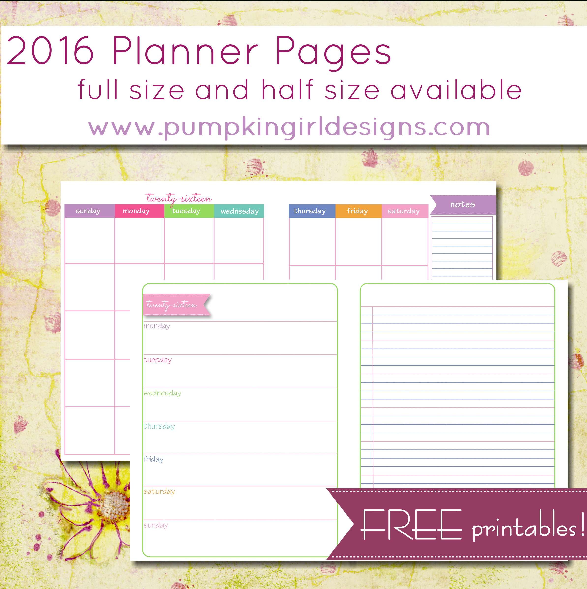 Printable Planner Pages | The Mac And Cheese Chronicles - Free Printable Diary Pages