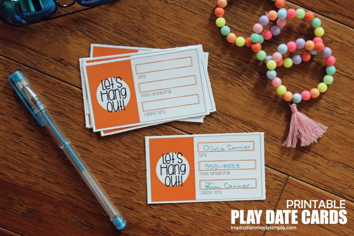 Play Date Invitations Free Printable