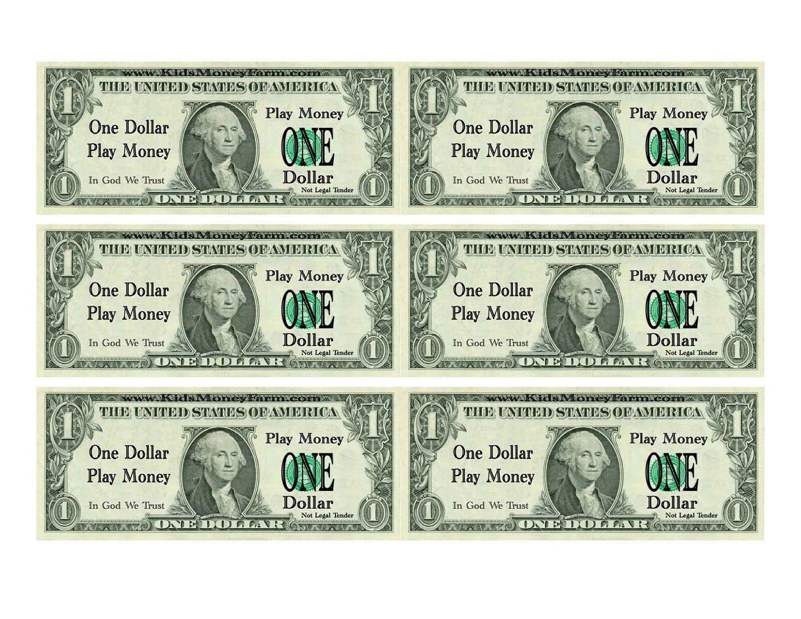 Printable Play Money For Kids | Printable | Printable Play Money - Free Printable Play Dollar Bills