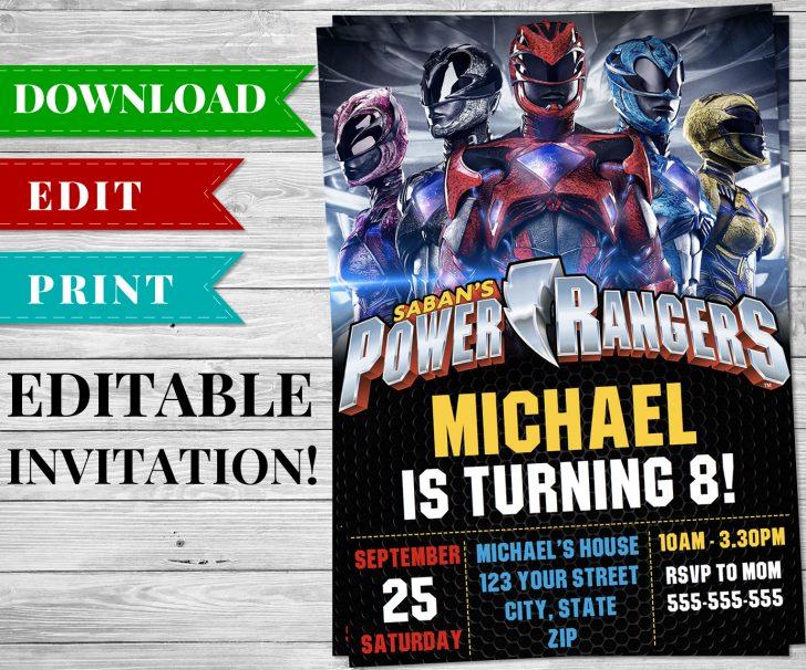 Free Printable Power Ranger Birthday Invitations