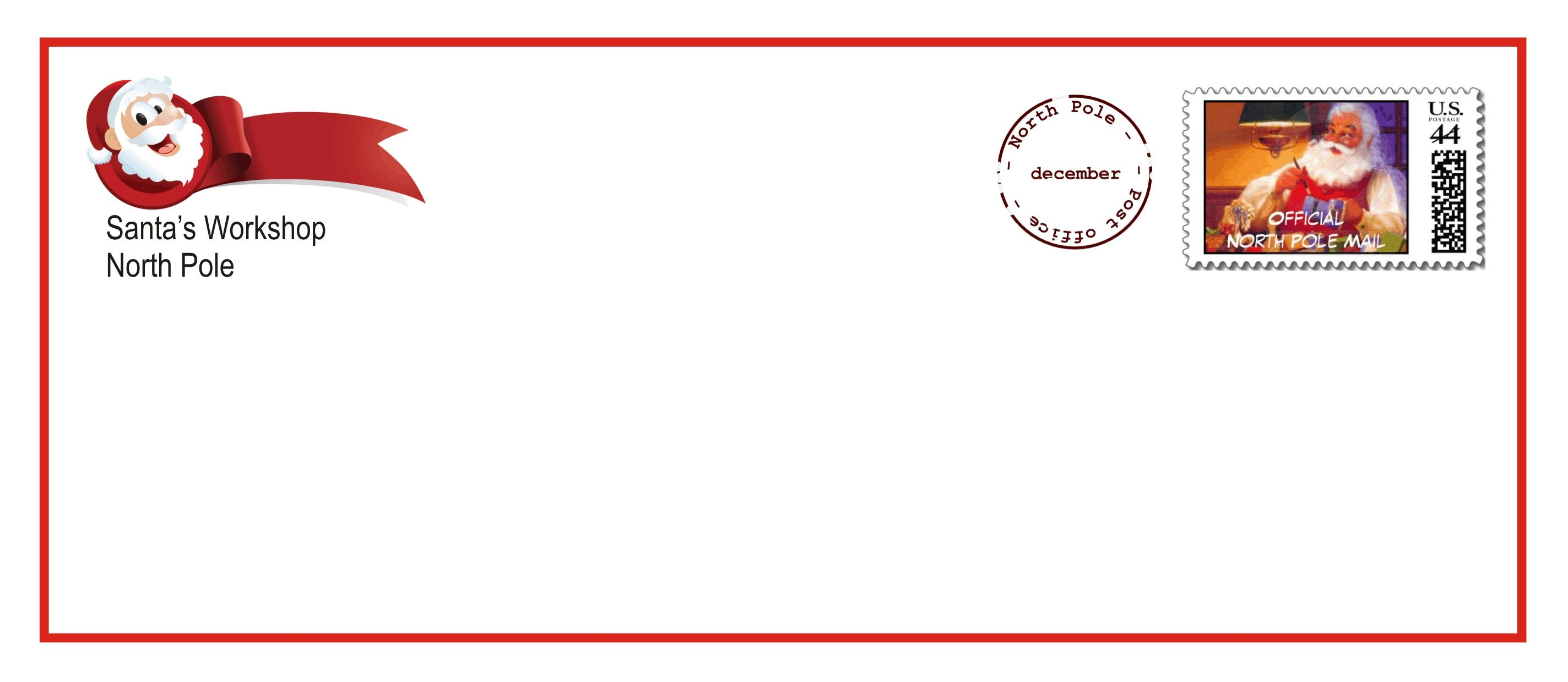 Printable Santa Letter Envelopes That Come With The Upgraded Letter - North Pole Stationary Printable Free