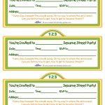 Printable Sesame Street Sign Invitation   Coolest Free Printables   Free Printable Sesame Street Sign