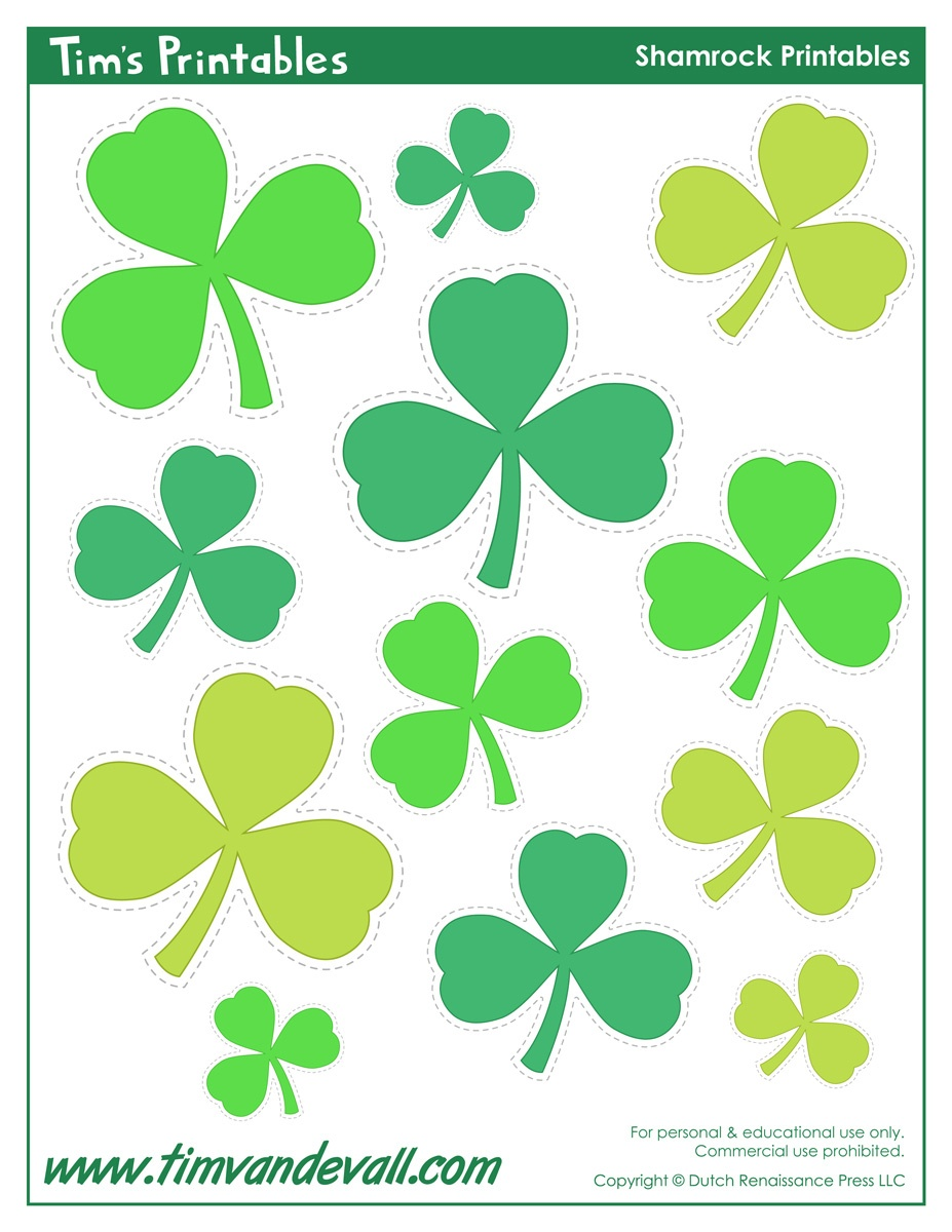 Printable Shamrock Templates | Printable Shape Templates - Free Printable Shamrocks