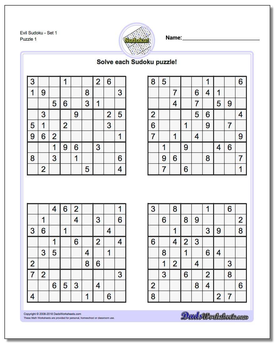 Printable Soduko | Room Surf - Free Printable Sudoku 6 Per Page