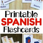Printable Spanish Flashcards   Look! We're Learning!   Free Printable Spanish Verb Flashcards