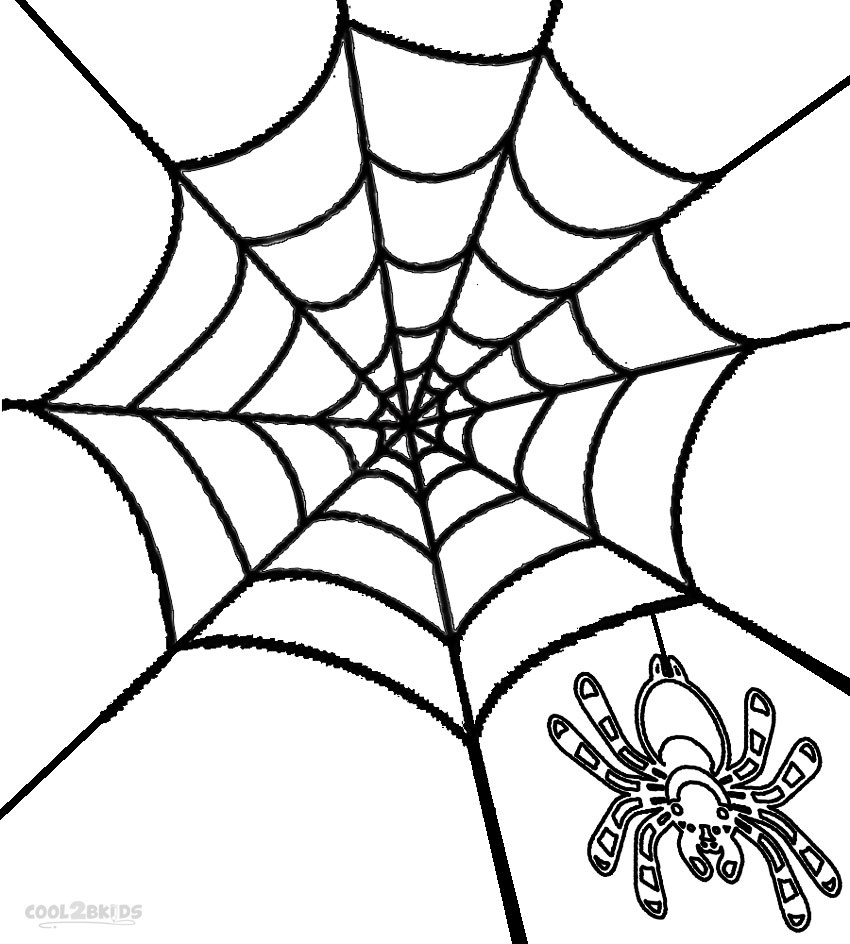 Printable Spider Web Coloring Pages For Kids | Cool2Bkids - Free Printable Spider Web