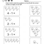Printable Subtraction Worksheet   Free Kindergarten Math Worksheet   Free Printable Kindergarten Addition And Subtraction Worksheets