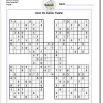 Printable Sudoku Samurai! Give These Puzzles A Try, And You'll Be - Free Printable Sudoku 4 Per Page