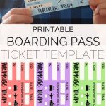 Printable Tickets Template: Boarding Passes For Surprise Vacation   Free Printable Boarding Pass