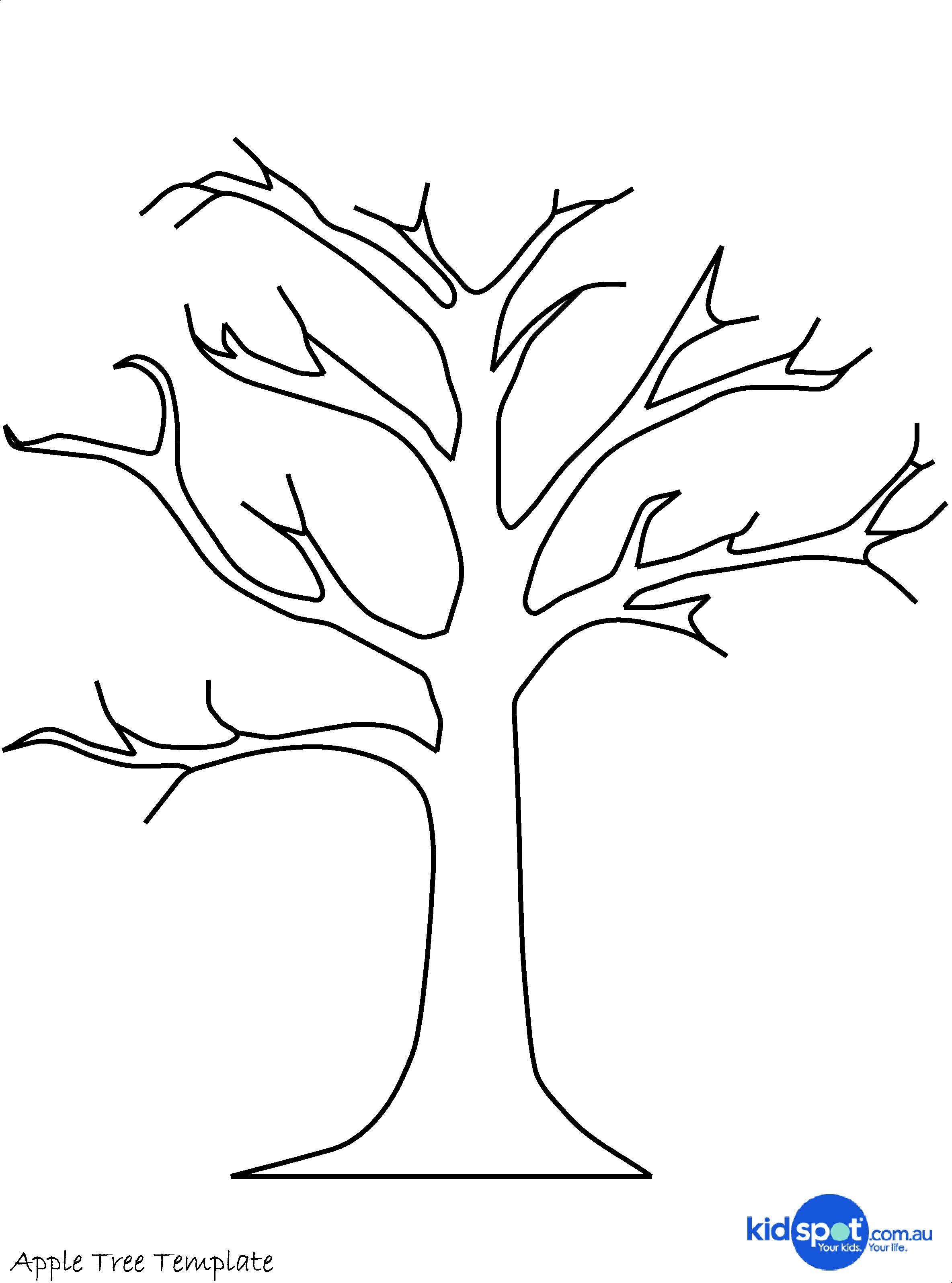 Printable Tree Template | Tree Craft - Cork Stamp Apple Tree - Art - Free Printable Palm Tree Template