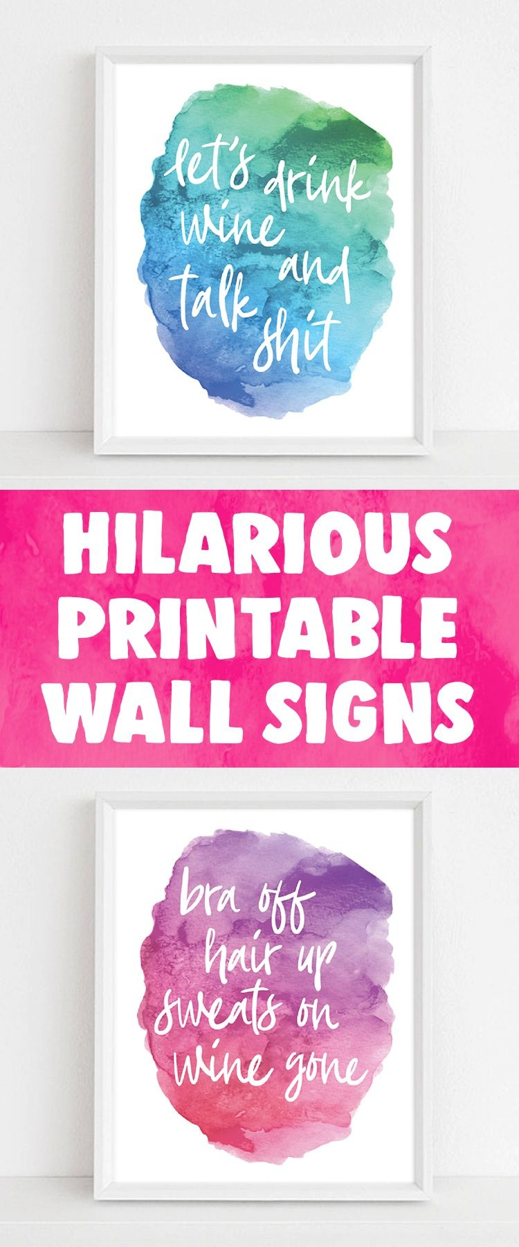 Printable Wall Art | Emerald And Mint Designs | Funny Home Decor - Free Printable Funny Signs