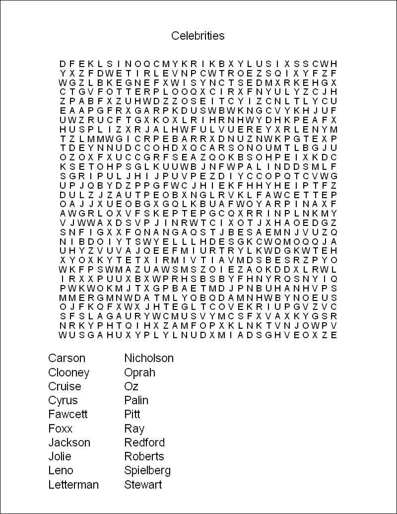 Printable Word Search Puzzles | Free Printable Word Search Puzzles - Free Printable Word Puzzles