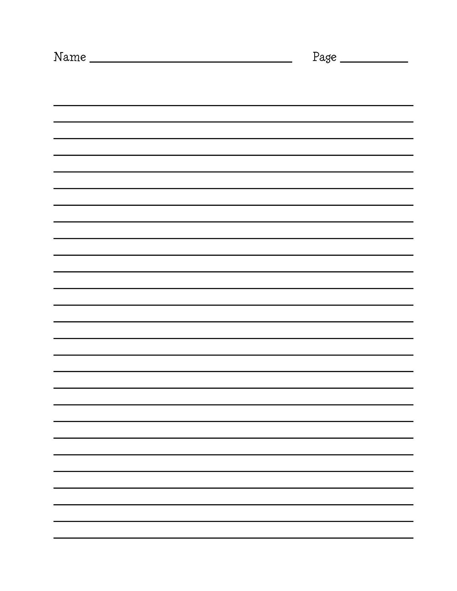 Printable Writing Paper With Border - Floss Papers - Elementary Lined Paper Printable Free