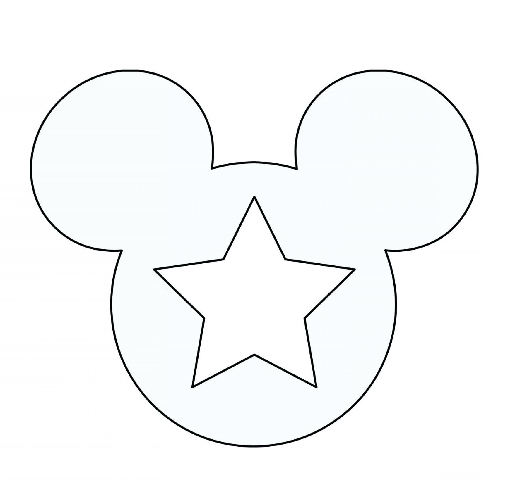 Provided That Mickey Mouse Template Ears Printable Coloring Pages - Free Printable Minnie Mouse Ears Template