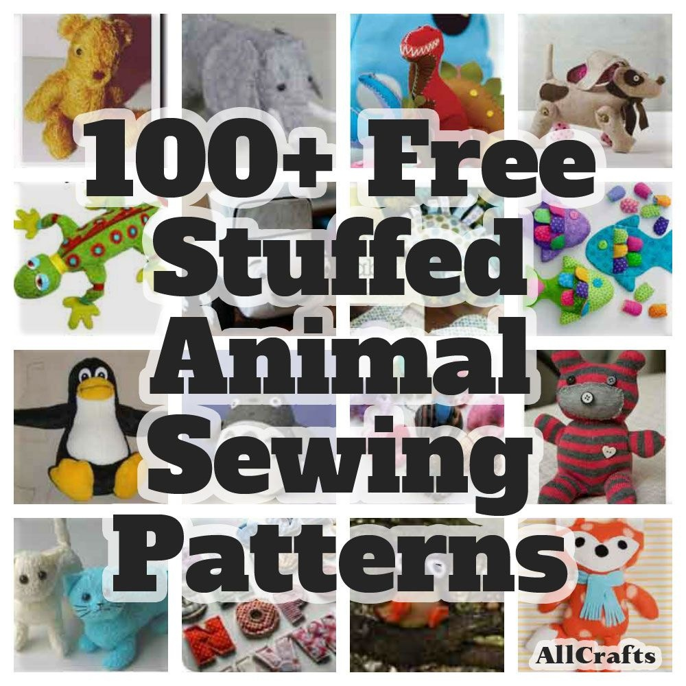 P>Stitch A Fun Softie For A Little One With Our Collection Of 100+ - Free Printable Stuffed Animal Patterns