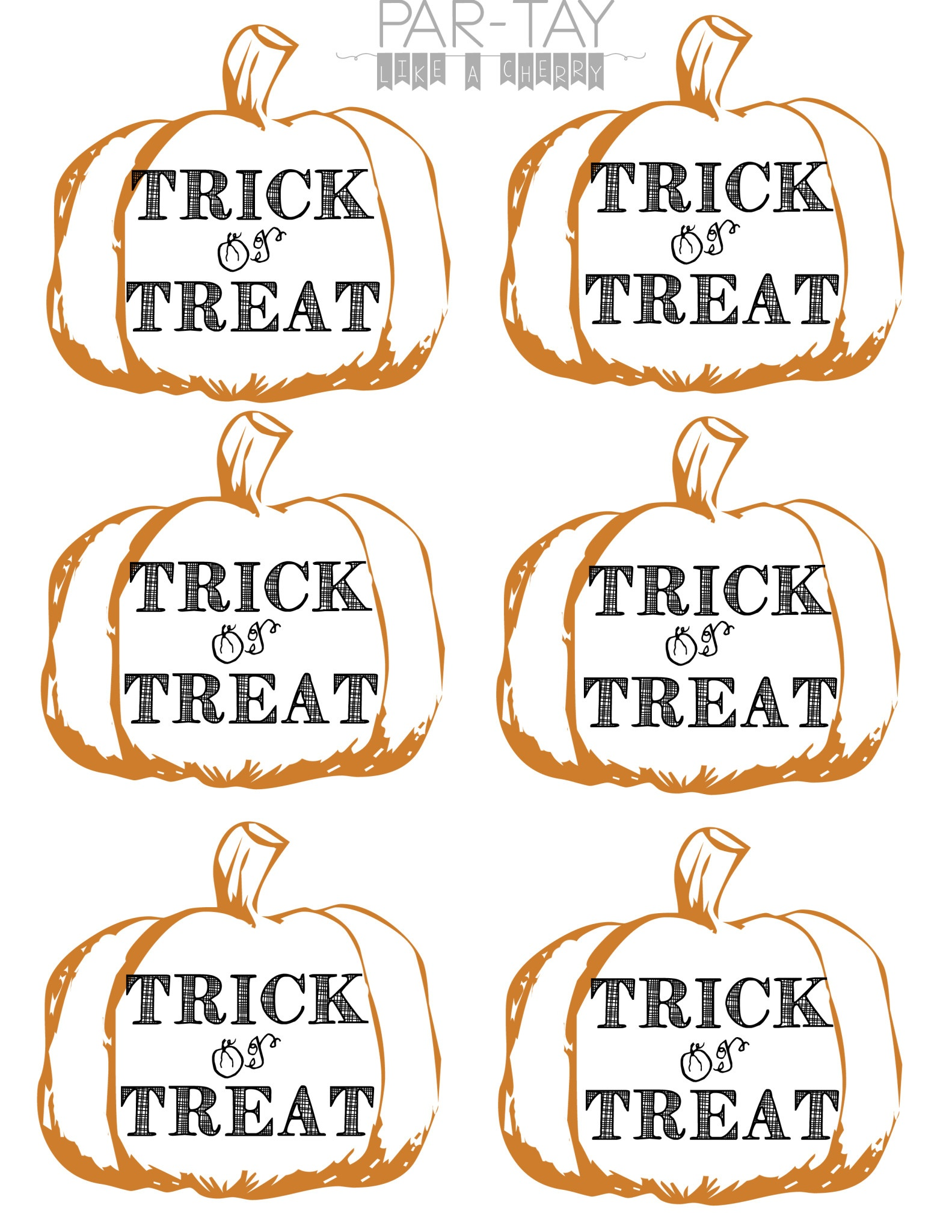 Pumpkin Tags Free Printable - Party Like A Cherry - Free Printable Pumpkin Gift Tags
