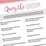 Quiz The Groom   Free Digital Download In 2019 | Bachelorette Games   How Well Does The Bride Know The Groom Free Printable