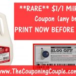 Rare Milk Printable Coupon ~ Save $1.00/1 Gallon Any Brand!   Free Milk Coupons Printable