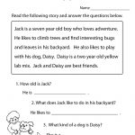 Reading Comprehension Practice Worksheet | Education | Free Reading   Free Printable Comprehension Worksheets For Grade 5