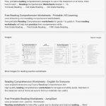 Reading Comprehension Worksheets For 1St Grade - Cramerforcongress - Third Grade Reading Worksheets Free Printable