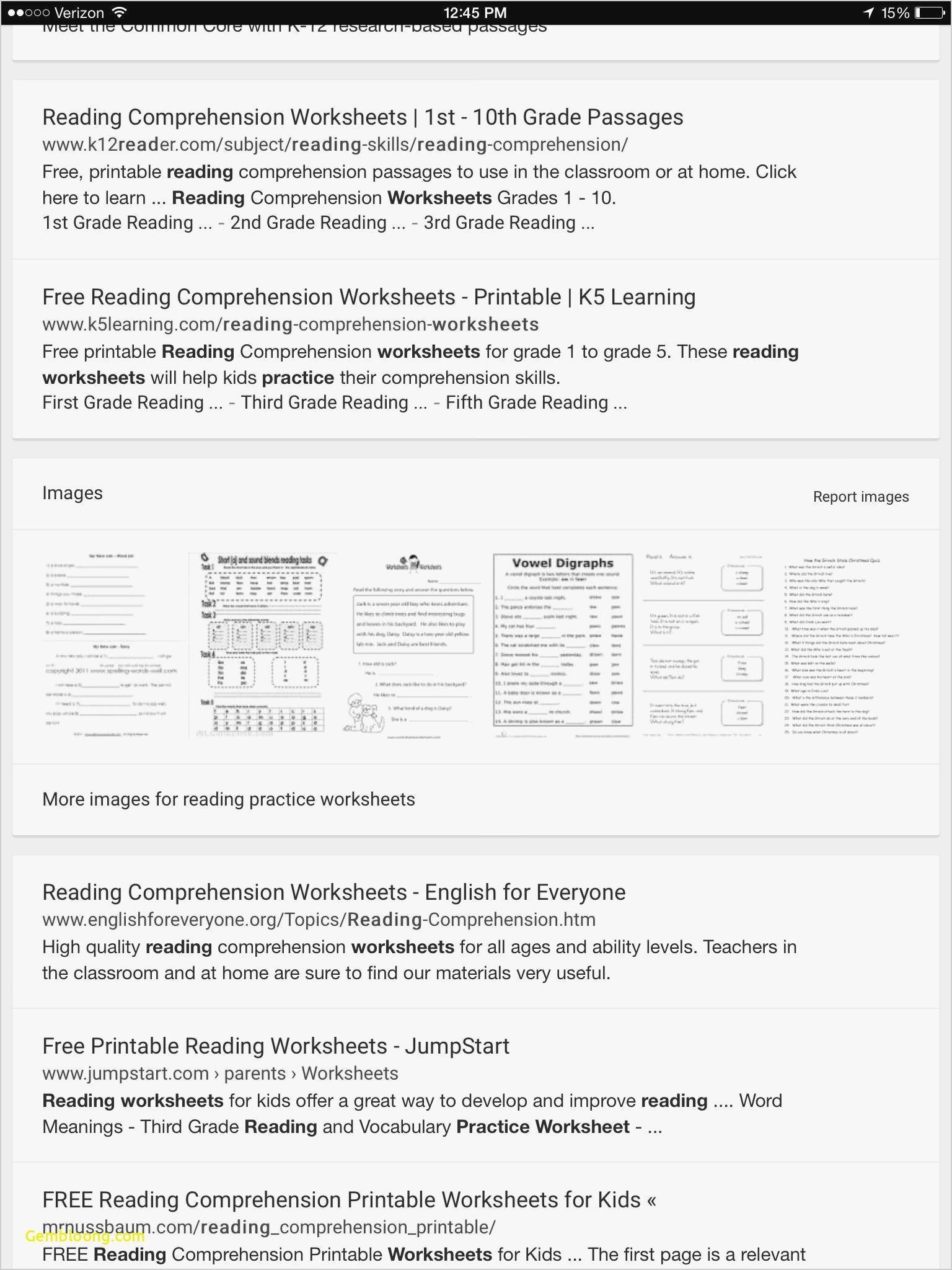 Reading Comprehension Worksheets For 1St Grade - Cramerforcongress - Third Grade Reading Worksheets Free Printable