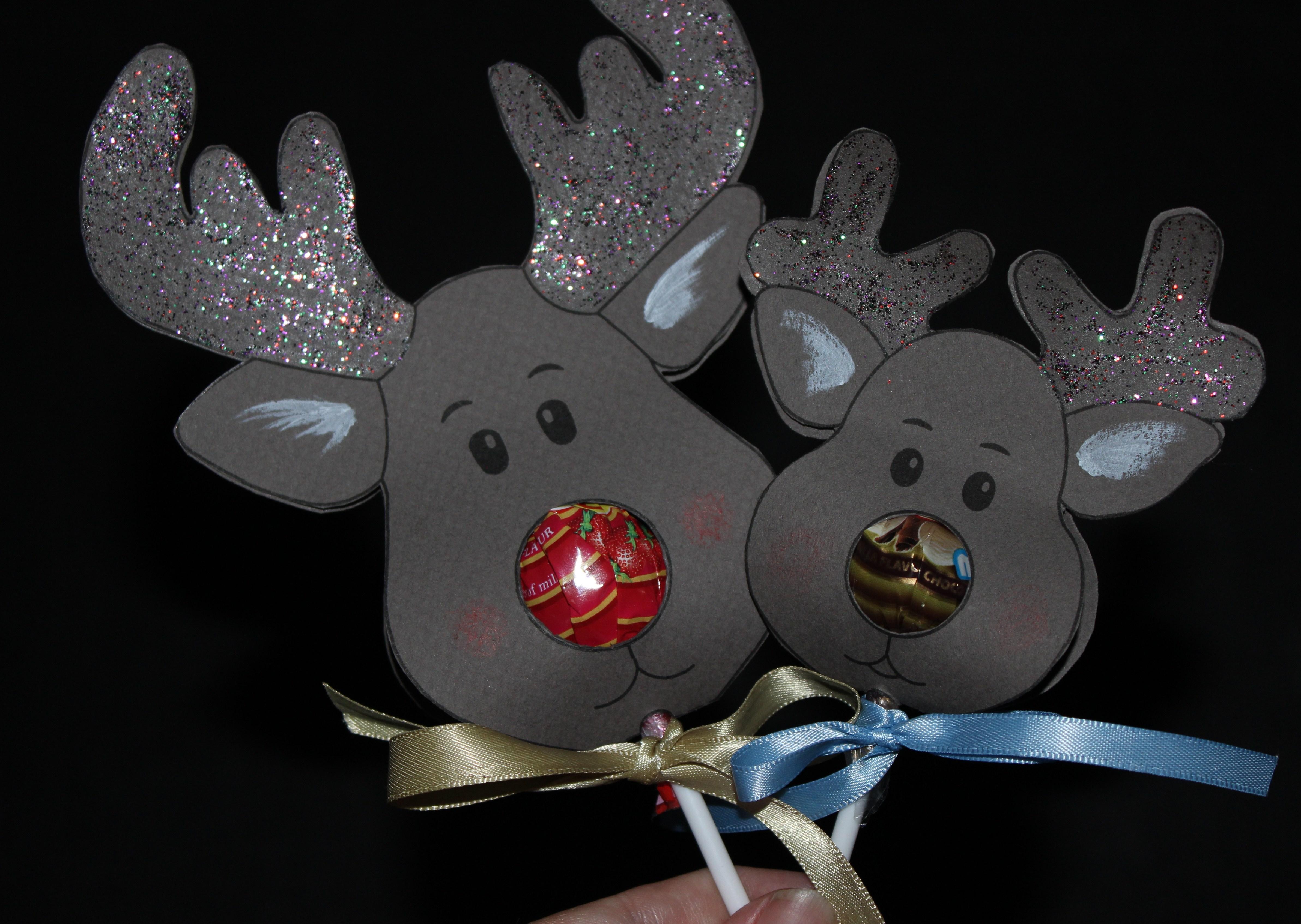 Reindeer Head Template. 16 Cardboard Deer Head Ideas Guide Patterns - Free Printable Reindeer Lollipop Template