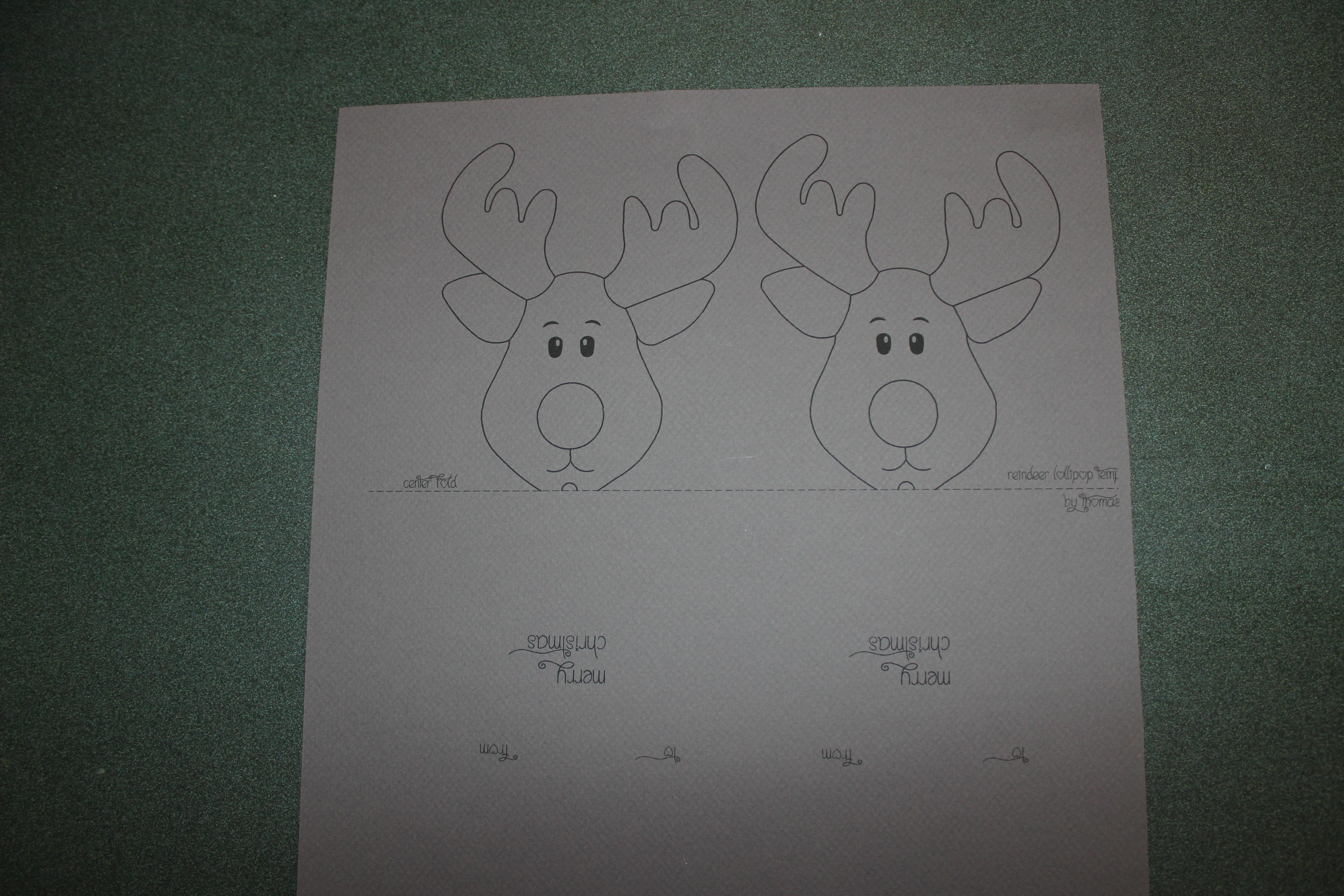 Reindeer Lollipop Card Tutorial | Create It Stitchery - Free Printable Reindeer Lollipop Template