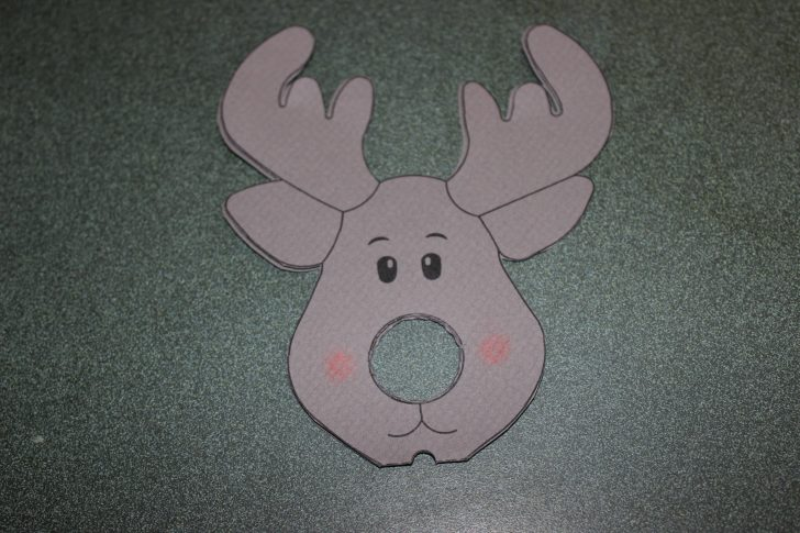 Free Printable Reindeer Lollipop Template