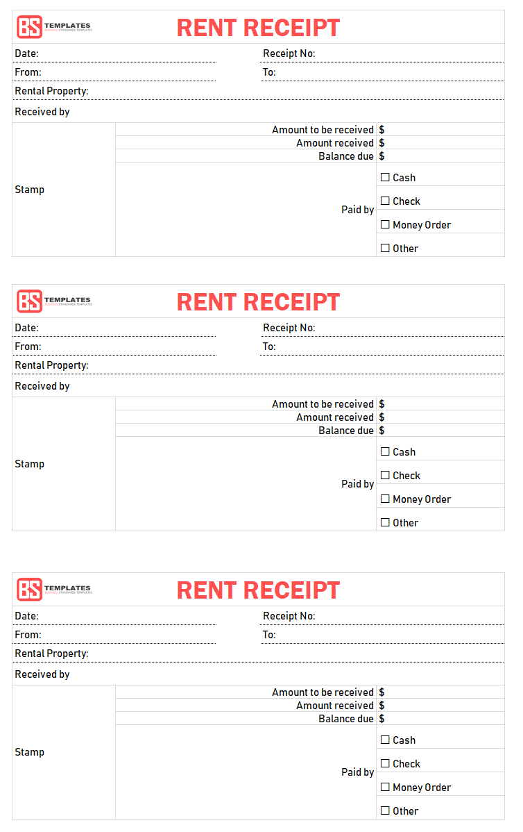 Rent Receipt Template | Free Printable Rent Receipt Format For Word - Free Printable Rent Receipt