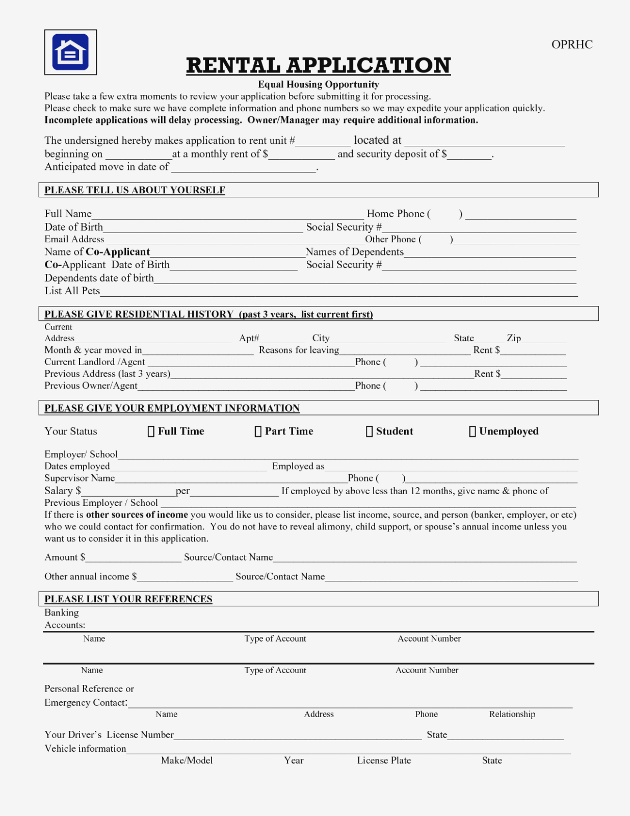 Rental Application Form Free – Keni.candlecomfortzone – Form Information - Free Printable Rental Application