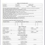 Rental Application Forms Free Printable   Form : Resume Examples   Free Printable Rental Application