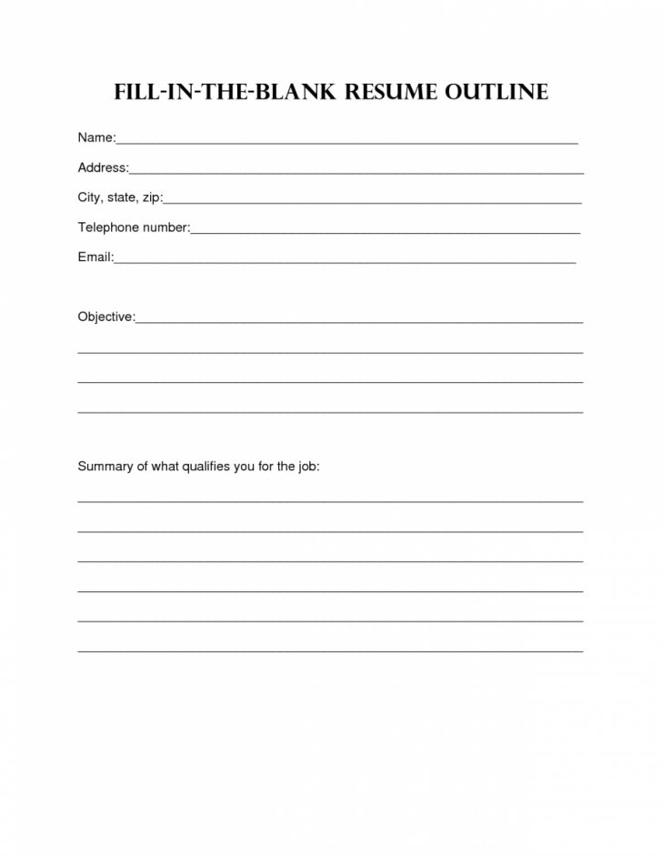 Free Printable Resume Templates