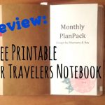 Review: Free Printable For Midori Travelers Notebook   Youtube   Free Printable Traveler's Notebook Inserts