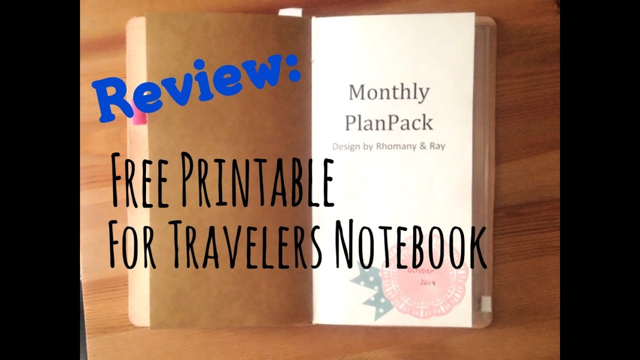 Review: Free Printable For Midori Travelers Notebook - Youtube - Free Printable Traveler's Notebook Inserts