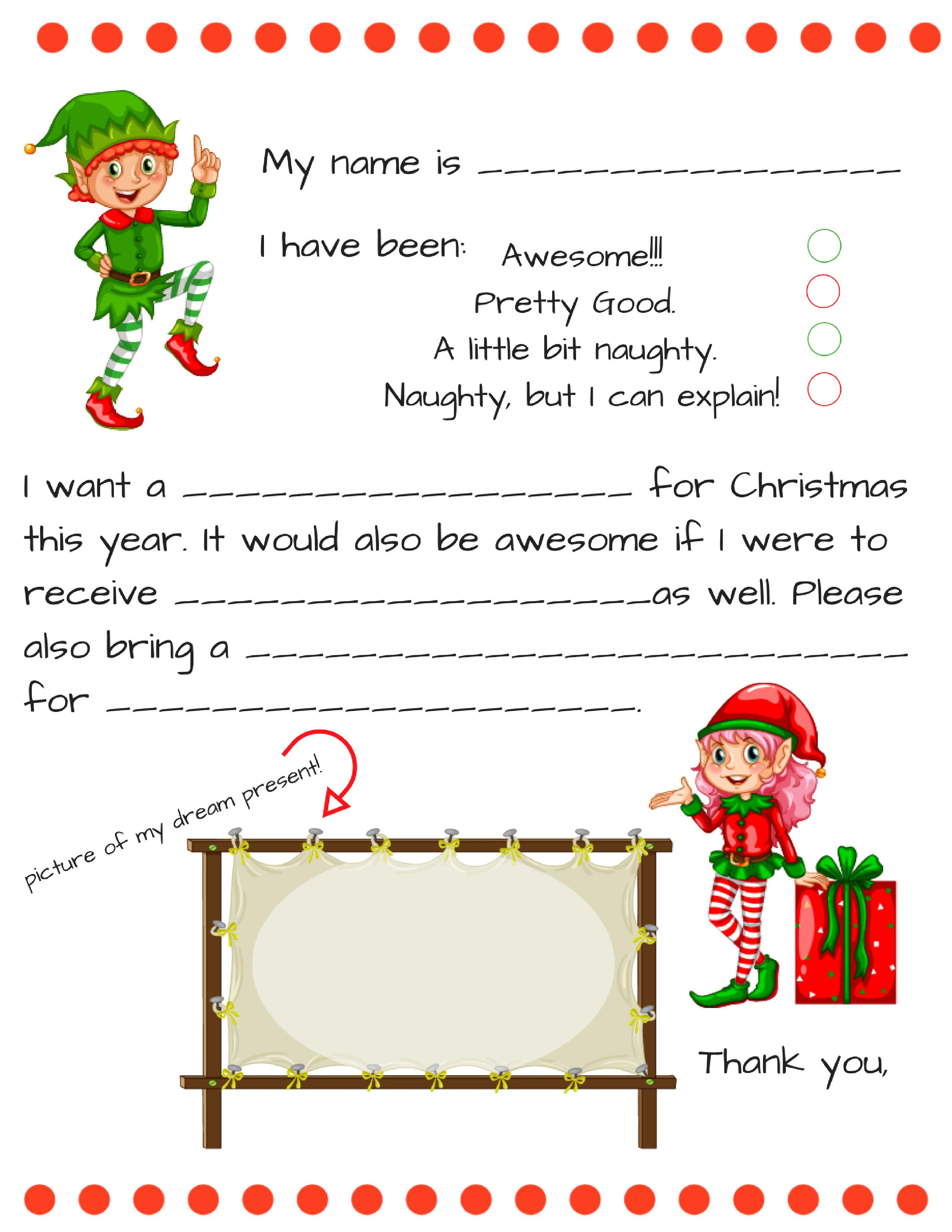 Santa Letter Templates - Kaza.psstech.co - Free Printable Dear Santa Stationary