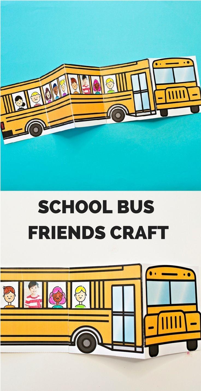 School Bus Of Friends Free Printable | Έναρξη Σχολικής Χρονιας - Free Printable School Bus Template