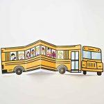 School Bus Of Friends Free Printable | Crafts | Templates Printable   Free Printable School Bus Template