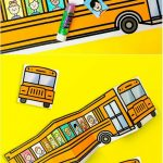 School Bus Of Friends Free Printable | Easy Crafts | School Bus   Free Printable School Bus Template