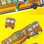 School Bus Of Friends Free Printable | Easy Crafts | School Bus   Free Printable School Bus Template