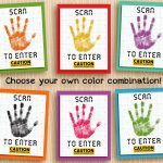 Science Party Welcome Sign. Design Your Own Scan For Access Sign   Scan To Enter Sign Printable Free