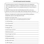 Sentences Worksheets   Complex Sentences Worksheets   Free Printable Worksheets On Simple Compound And Complex Sentences