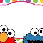 Sesame Street Twin Birthday Invitation   Free Printable Birthday   Free Printable Cookie Monster Birthday Invitations
