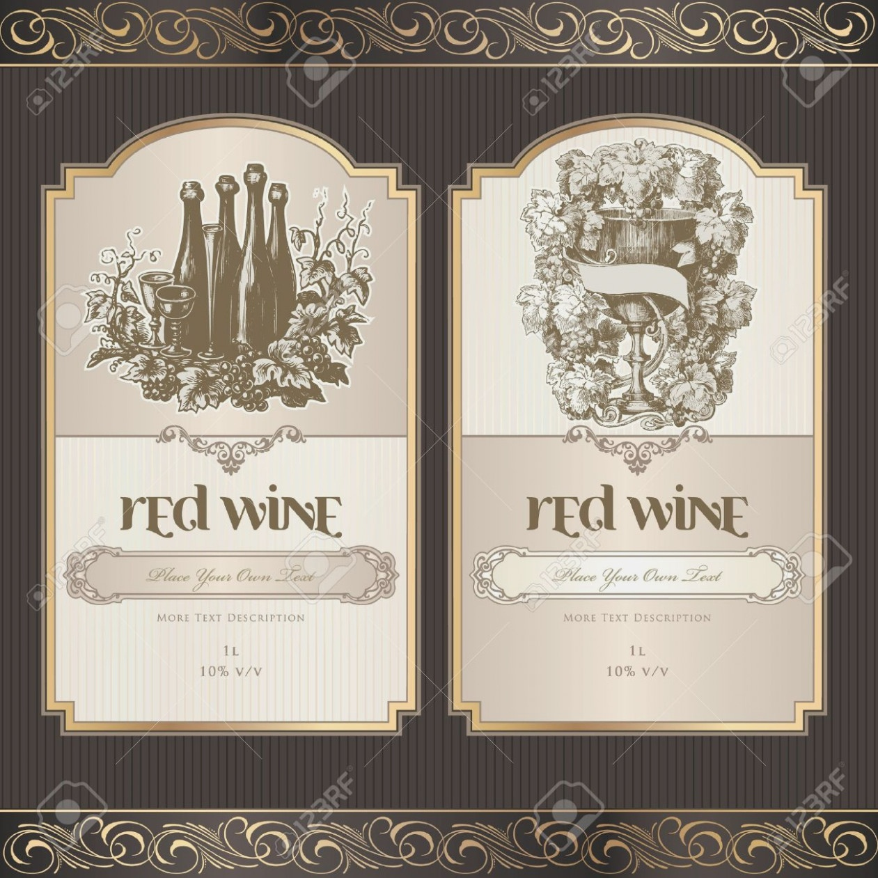 Set Of Wine Labels Wine Label Template Free | Projet11 – Label Maker - Free Printable Wine Labels With Photo