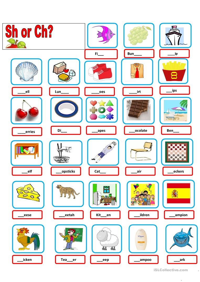 Sh-Ch Worksheet - Free Esl Printable Worksheets Madeteachers - Sh Worksheets Free Printable