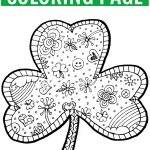 Shamrock Coloring Page Free Printable   Finding Zest   Free Printable Shamrocks