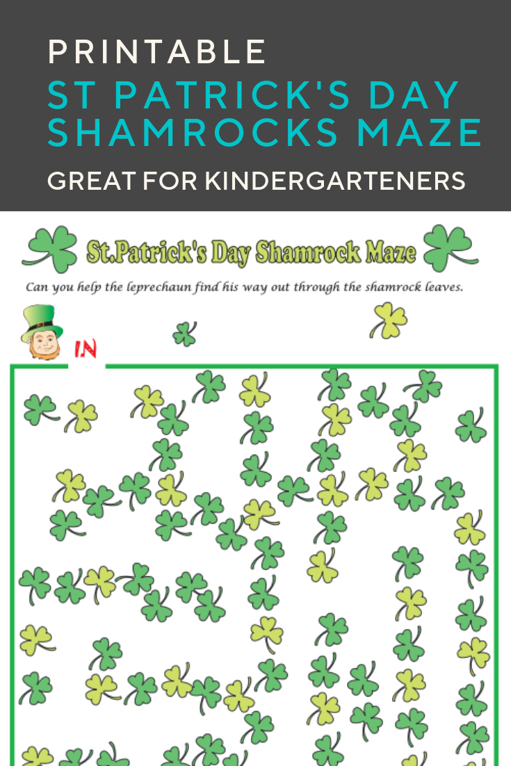Shamrocks Maze   Elementary Activities And Resources   Maze - Free Printable St Patrick's Day Mazes