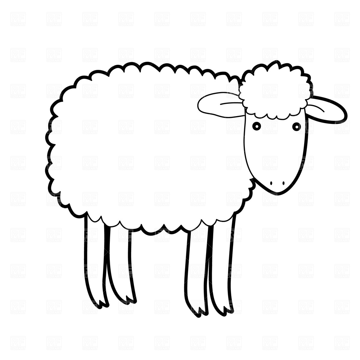 Sheep Outline | Free Download Best Sheep Outline On Clipartmag - Free Printable Pictures Of Sheep
