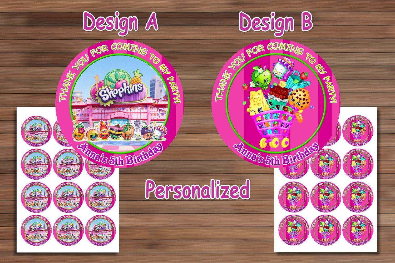 Shopkins Birthday Party, Shopkins Birthdaymagianrainbow On Zibbet - Free Printable Shopkins Thank You Cards